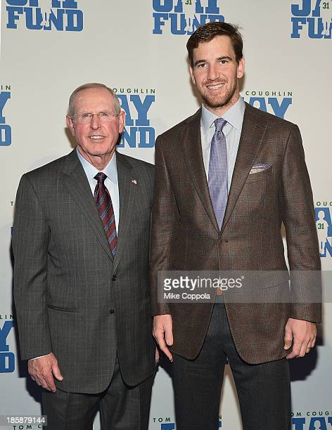 New York Football Giants head coach Tom Coughlin and quarterback Eli Manning attend the Ninth Annual Tom Coughlin Jay Fund Champions For Children...