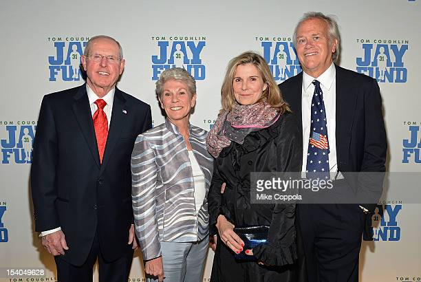 New York football Giants head coach Tom Coughlin Judy Coughlin Susan Saint James and Dick Ebersol attend the Tom Coughlin 8th Annual Champions For...