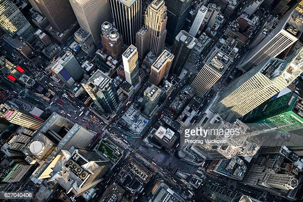 new york from above - aerial view bildbanksfoton och bilder