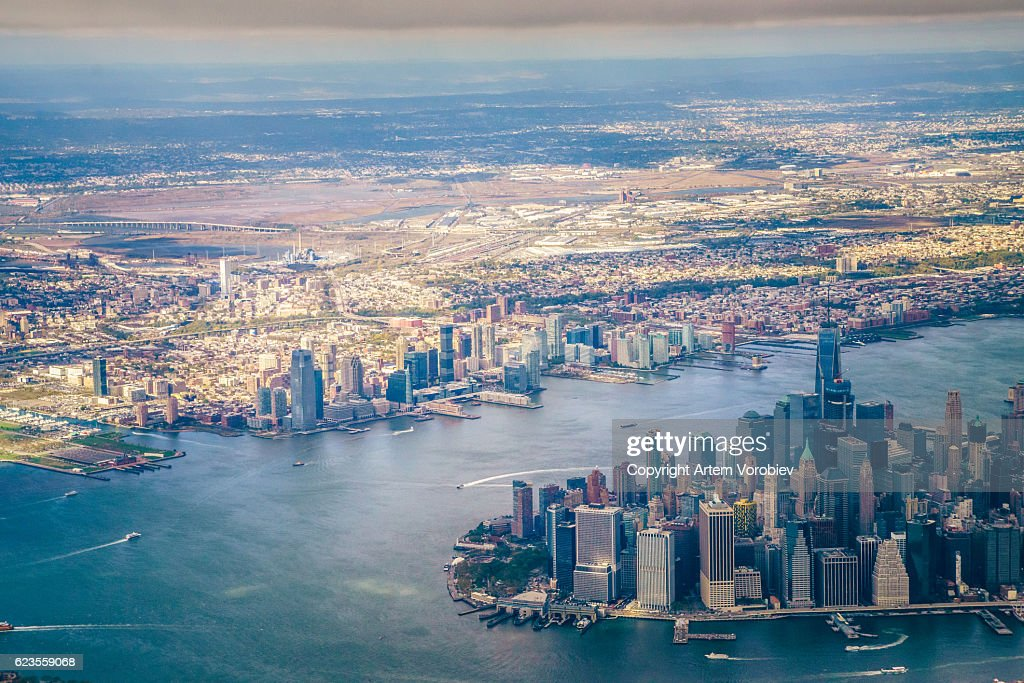New York from the air : Stock Photo
