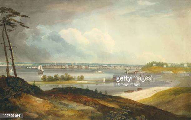New York from the Heights near Brooklyn, circa 1820-23. Artist William Guy Wall.