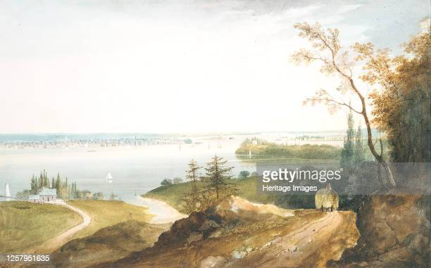 New York from Weehawk circa 182023 Artist William Guy Wall