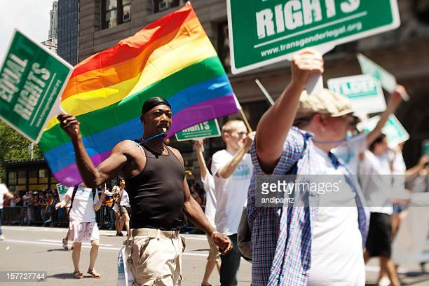 new york gay pride march - campaigner stock pictures, royalty-free photos & images