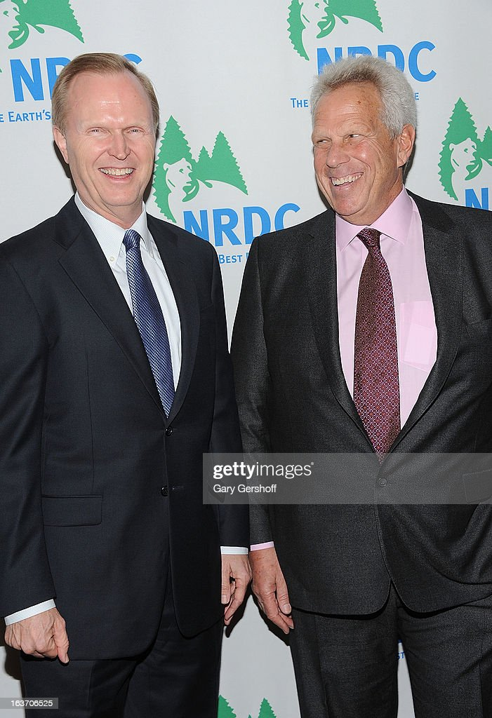 New York Giants co-owners John Mara (L) and Steve Tisch attend the 2013 National Resource Defense Council Game Changer Awards at the Mandarin Oriental Hotel on March 14, 2013 in New York City.
