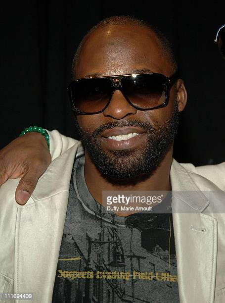 New York Giants Cornerback R.W. McQuarters attends Custo Barcelona Fall 2008 during Mercedes-Benz Fashion Week at The Promenade, Bryant Park on...