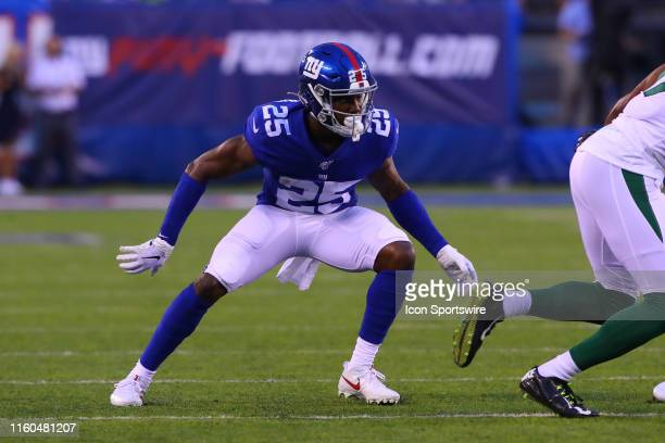 New York Giants defensive back Corey Ballentine during the National Football League preseason football game between the New York Giants and the New...