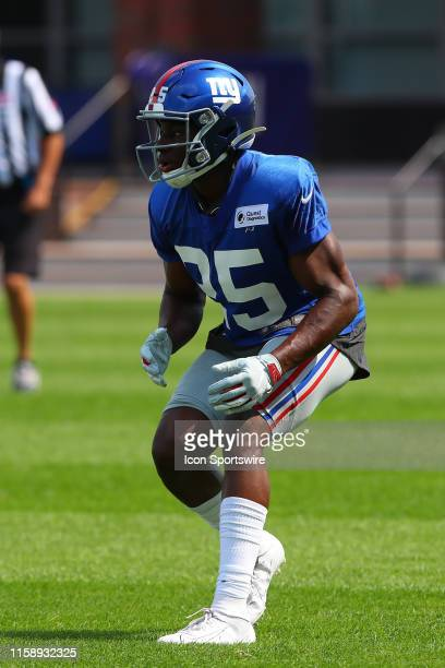 New York Giants defensive back Corey Ballentine during training camp on July 26 2019 at Quest Diagnostics Training Center in East Rutherford NJ
