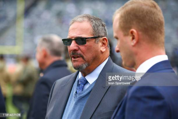 New York Giants General Manager Dave Gettleman prior to the National Football League game between the New York Jets and the New York Giants on...