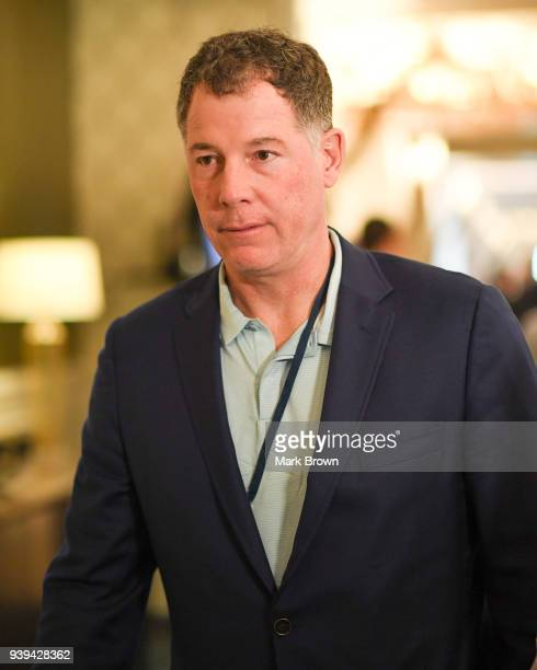 New York Giants head coach Pat Shurmur leaves the final meetings at the 2018 NFL Annual Meetings at The RitzCarlton Orlando Great Lakes on March 28...