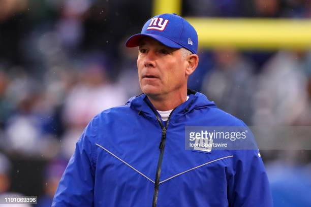 New York Giants head coach Pat Shurmur prior to the National Football League game between the New York Giants and the Philadelphia Eagles on December...