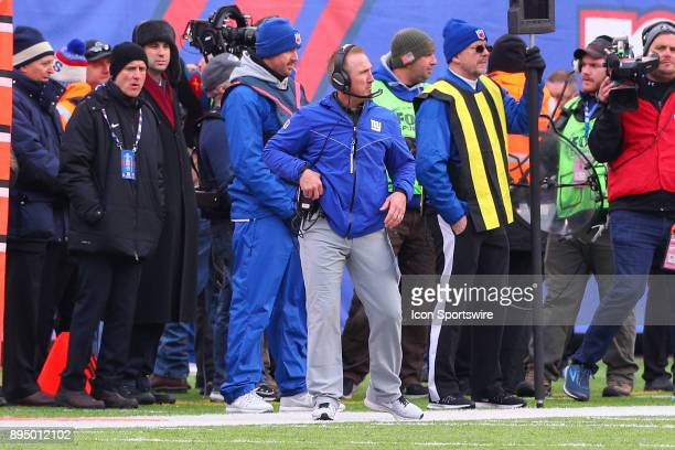 New York Giants head coach Steve Spagnuolo during the National Football League game between the New York Giants and the Philadelphia Eagles on...