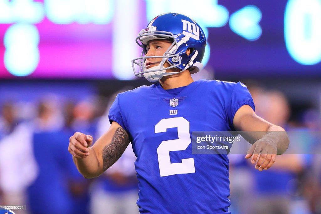 0b04532d9 ... New York Giants kicker Aldrick Rosas (2) during the Preseason National  Football League game ...