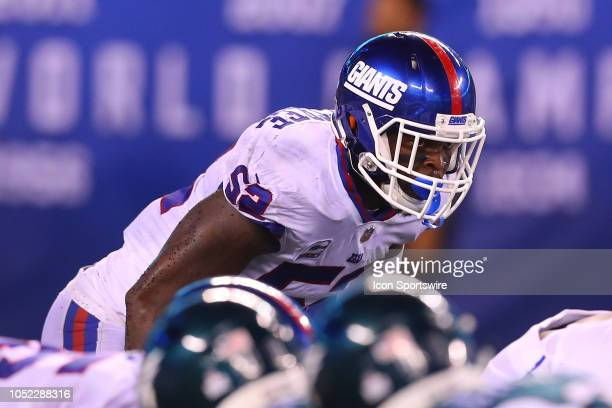 New York Giants linebacker Alec Ogletree during the National Football Leage game between the New York Giants and the Philadelphia Eagles on October...