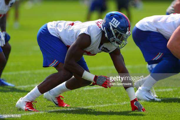 New York Giants linebacker Lorenzo Carter during New York Giants Training Camp on July 26 2018 at Quest Diagnostics Training Center in East...