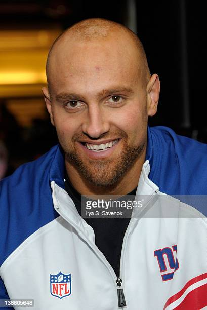 New York Giants Linebacker Mark Herzlich attends 2012 Cycle For Survival - Day 2 at Equinox Graybar on February 12, 2012 in New York City.