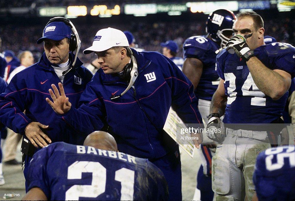 2000 NFC Divisional Playoff Game - Philadelphia Eagles vs New York Giants - January 7, 2001 : Fotografia de notícias