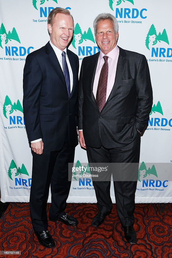 New York Giants President, CEO & co-owner John Mara and New York Giants chairman Steve Tisch attend the 2013 Natural Resources Defense Council Game Changer Awards at the Mandarin Oriental Hotel on March 14, 2013 in New York City.