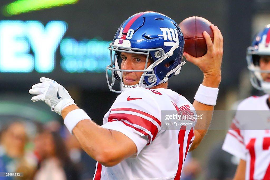 NFL: AUG 24 Preseason - Giants at Jets : News Photo