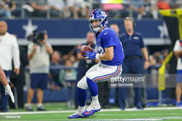 New York Giants Quarterback Eli Manning scrambles during the game between the New York Giants and the Dallas Cowboys on September 8 2019 at ATT...