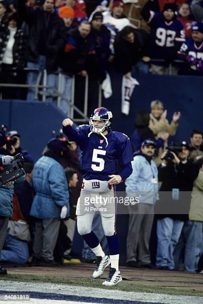 New York Giants quarterback Kerry Collins comes out for pregame introductions before the NFC Divisional Playoff a 2010 victory over the Philadelphia...