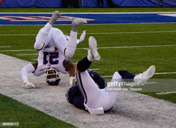 New York Giants safety Landon Collins was injured on this play when he knocked Dallas Cowboys wide receiver Cole Beasley out of bounds in the red...
