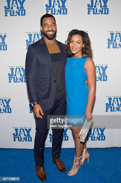 New York Giant's Spencer Paysinger and Blair Paysinger attend Tom Coughlin's Jay Fund Foundation's Champions for Children Gala at Cipriani 42nd...