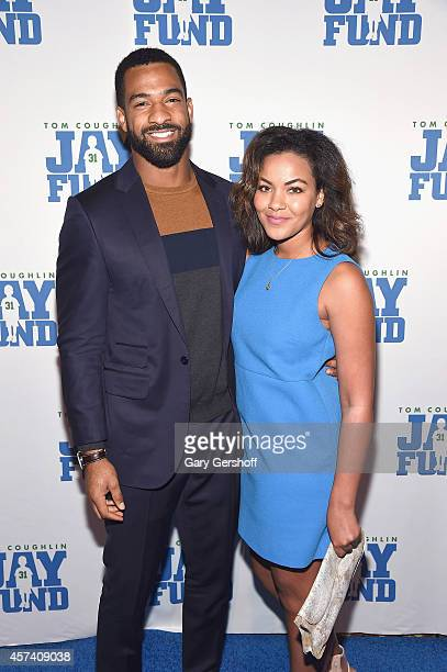 New York Giants Spencer Paysinger and Claire Duckworth attend the 2014 Tom Coughlin Jay Fund Foundation's Champions for Children Gala at Cipriani...