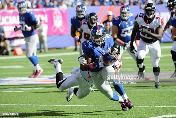 New York Giants vs Atlanta Falcons at MetLife Stadium East Rutherford NJ New York Giants running back Andre Williams run 3rd quarter