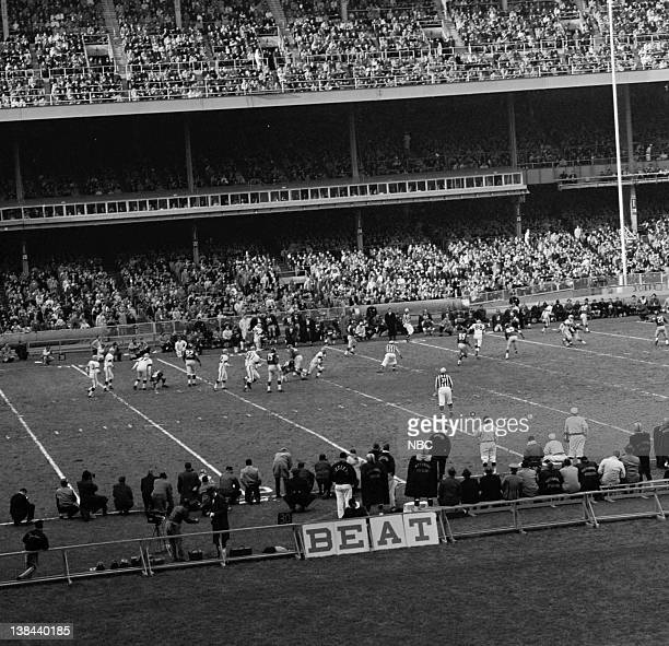NBC SPORTS New York Giants vs Pittsburg Steelers Aired 11/20/61 Pictured The NY Giants take on the Pittsburgh Steelers at Yankee Stadium