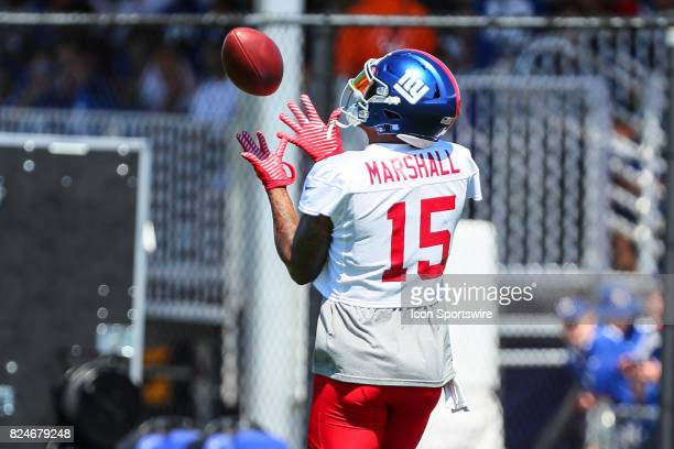 New York Giants wide receiver Brandon Marshall during 2017 New York Giants Training Camp on July 30 at Quest Diagnostics Center in East Rutherford NJ