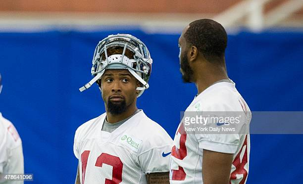 New York Giants wide receiver Odell Beckham New York Giants hold OTA at their practice facility East Rutherford NJ Monday June 1 2015