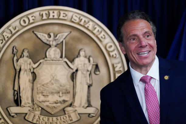 NY: New York Governor Andrew Cuomo Holds Covid Briefing In New York City