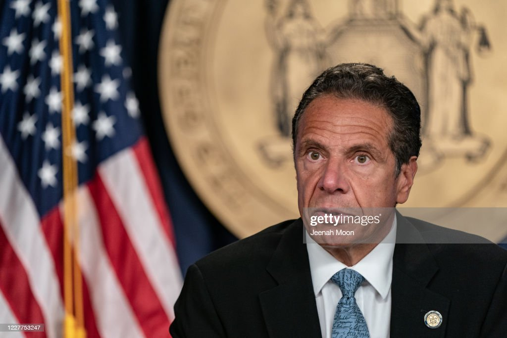 New York Governor Cuomo Holds Briefing In New York : News Photo