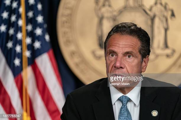 New York Gov. Andrew Cuomo speaks during the daily media briefing at the Office of the Governor of the State of New York on July 23, 2020 in New York...