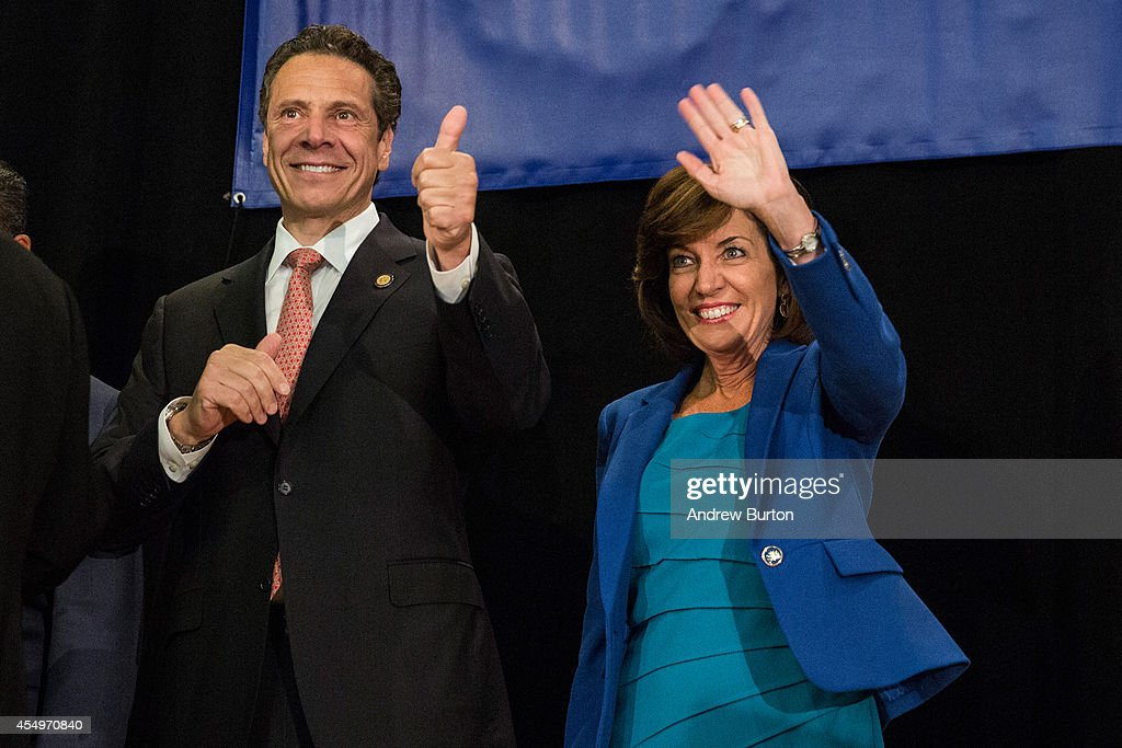 Governor Cuomo Attends A Get Out The Vote Rally In Times Square Ahead Of State's Primary : News Photo