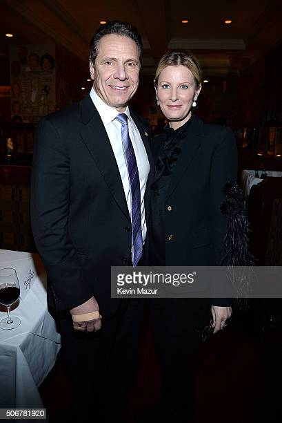 New York Governor Andrew Cuomo and Sandra Lee attend the Arthur Miller One Night 100 Years Benefit at Lyceum Theatre on January 25 2016 in New York...