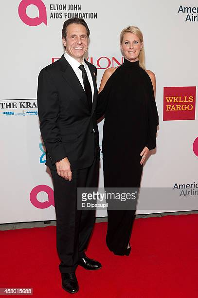 New York Governor Andrew Cuomo and Sandra Lee attend the Elton John AIDS Foundation's 13th Annual An Enduring Vision Benefit at Cipriani Wall Street...