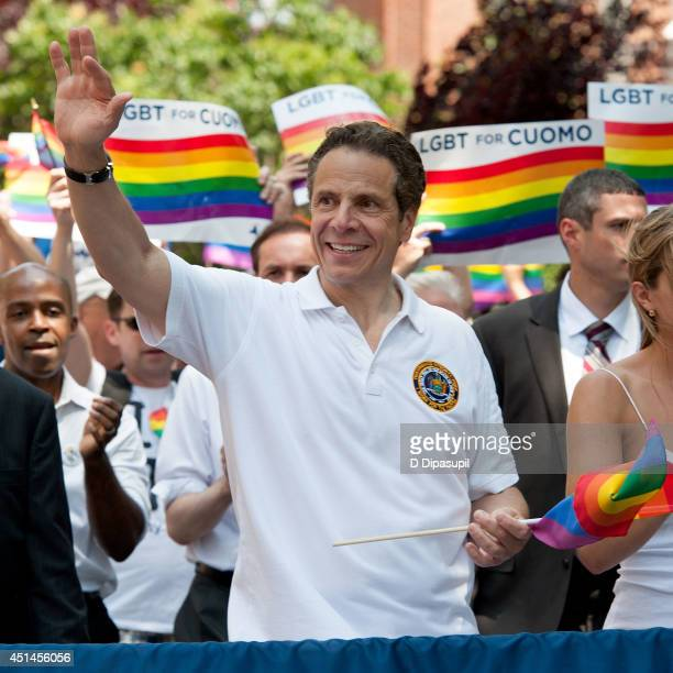 New York governor Andrew Cuomo attends the 2014 New York City Pride March on June 29 2014 in New York City