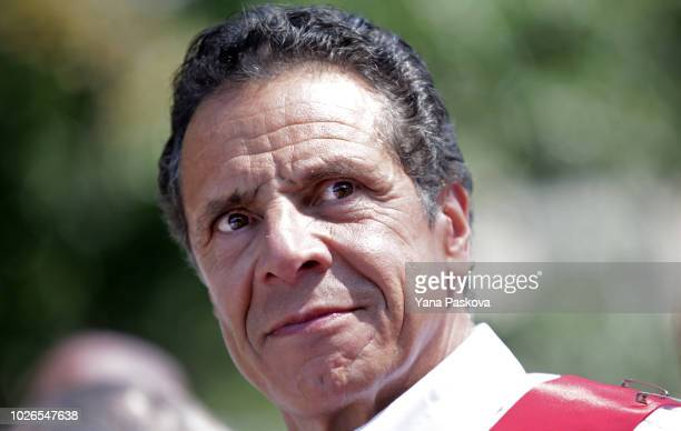 New York Governor Andrew Cuomo participates in the annual West Indian Day Parade on September 3 2018 in the Brooklyn borough of New York City The...