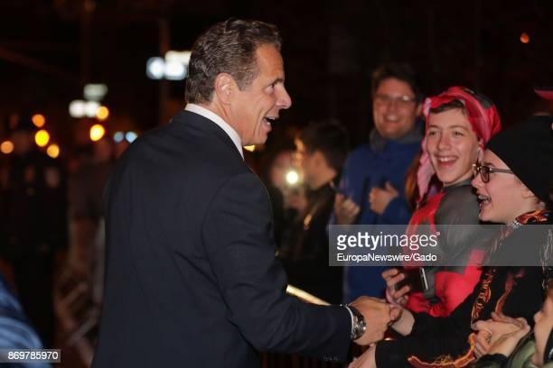 New York Governor Andrew Cuomo participating in the 2017 Halloween Parade to demonstrate that New York City is safe following a terrorist attack in...