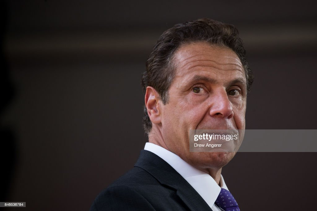 NY Gov. Cuomo And NYC Mayor de Blasio Attend Opening Of Cornell Tech Campus On Roosevelt Island : News Photo