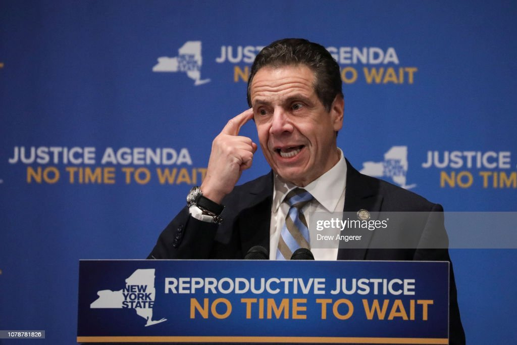 Gov. Cuomo And Hillary Clinton Make Announcement On Reproductive Justice In NY : News Photo