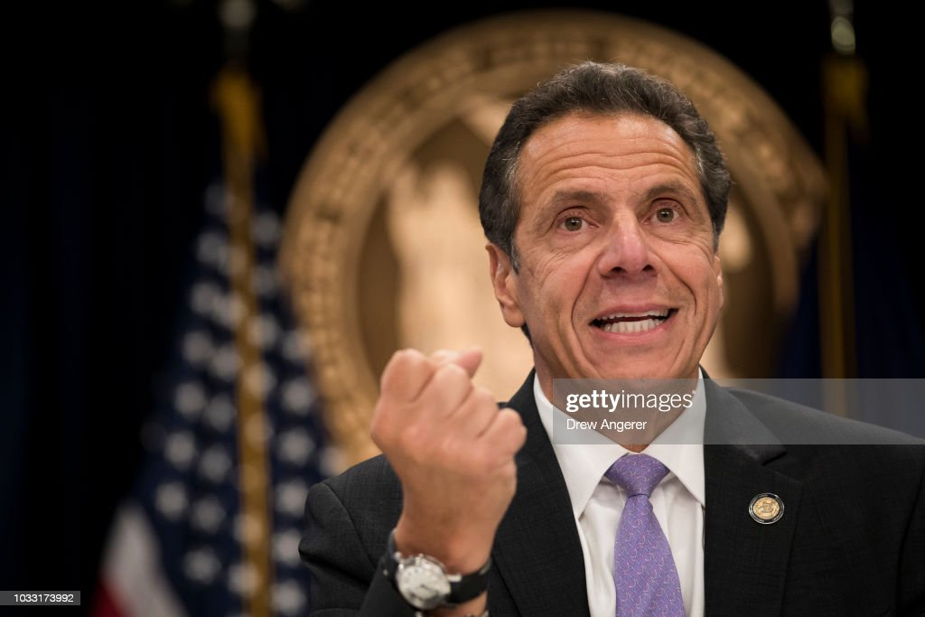 New York Governor Andrew Cuomo Holds Media Briefing : News Photo