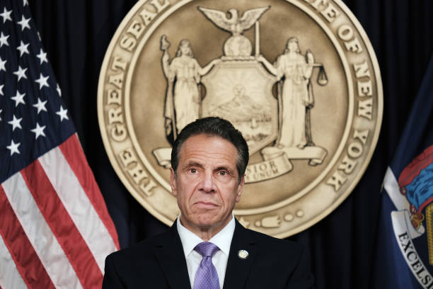 NY: New York Governor Cuomo Makes Announcement In Manhattan