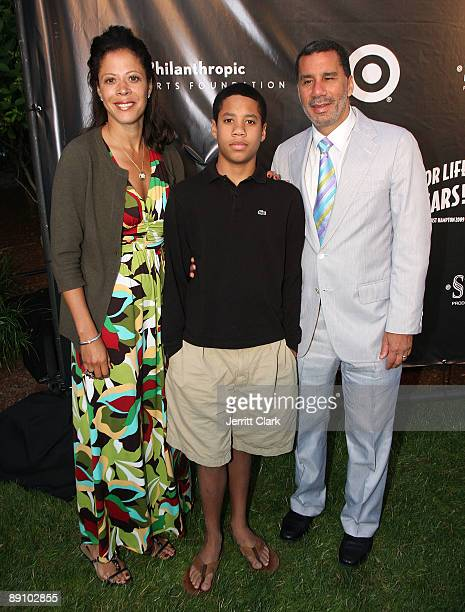 New York Governor David A Paterson with wife Michelle and son Alex attend Rush Philanthropic Arts Foundation's 10th Anniversary Art For Life Benefit...