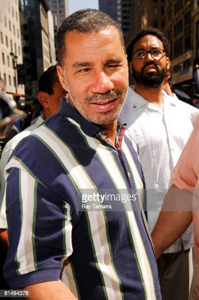 New York Governor David Paterson attends the 2008 National Puerto Rican Day Parade on June 8 2008 in New York City