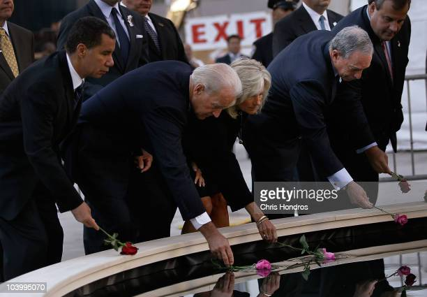 New York governor David Paterson Vice President Joe Biden his wife Jill Biden New York Mayor Mike Bloomberg and New Jersey governor Chris Christie...