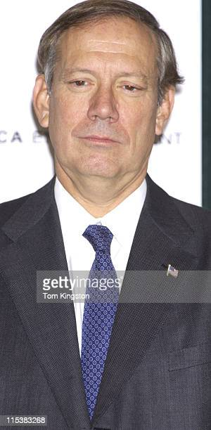 New York Governor George Pataki during Press Conference Announcing the Creation of the Tribeca Film Festival in New York City New York United States