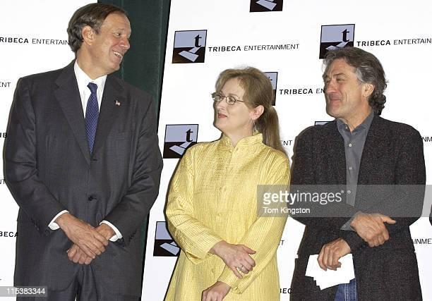 New York Governor George Pataki Meryl Streep and Robert De Niro