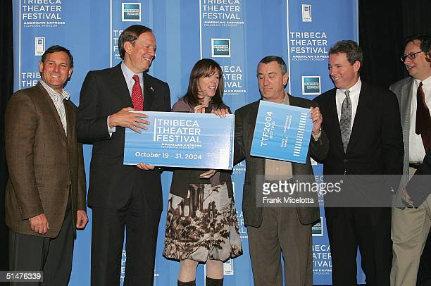 New York Governor George Pataki Tribeca Film Festival CoFounder Jane Rosenthal actor Robert De Niro and Chief Marketing Officer of American Express...